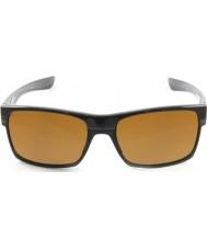 Oakley Oo9189-03 Twoface noir poli - lunettes de soleil bronze foncé