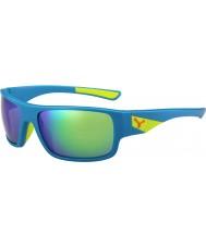 Cebe Murmure mat bleu chaux 1500 miroir flash gris lunettes vertes