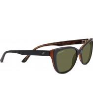 Serengeti Sophia noir brillant polarisé 555nm lunettes de soleil