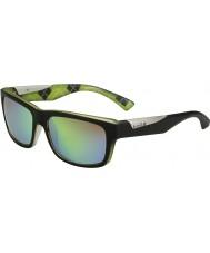 Bolle Jude mat chaux noir polarisé des lunettes de soleil d'émeraude brun
