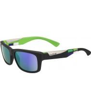Bolle Jude noir mat des lunettes de soleil bleu-violet