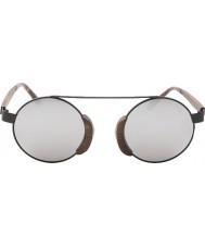 Swole Panda Morpheus brun lunettes de soleil polarisées bambou