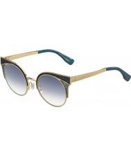 Jimmy Choo Mesdames psx or u3 militaires lunettes de soleil vertes ora-