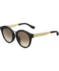Jimmy Choo Mesdames pepy-s qfe jd rose noire des lunettes de soleil d'or