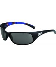 Bolle Recoil matte rayures bleues modulateurs lunettes de soleil polarisées gris