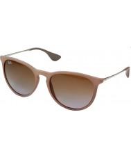 RayBan Rb4171 54 erika sable en caoutchouc noir 600068 lunettes de soleil
