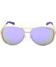 Michael Kors Mk5004 59 chelsea or rose 10034v lunettes de soleil miroir violet