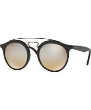 RayBan Rb4256 49 gatsby noir mat 6253b8 lunettes de soleil gris miroir